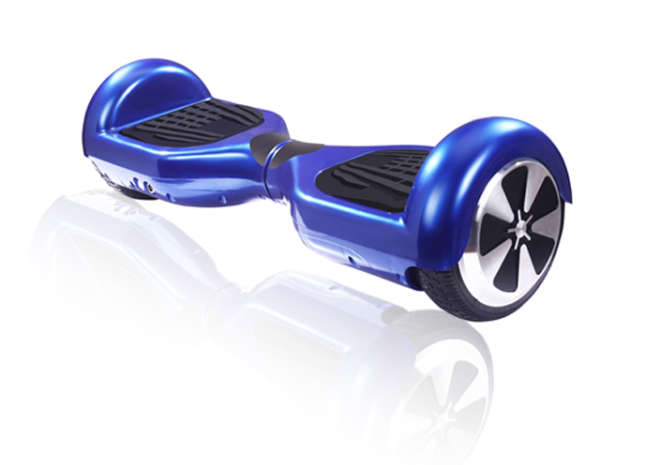Mini segway hoverboard blue
